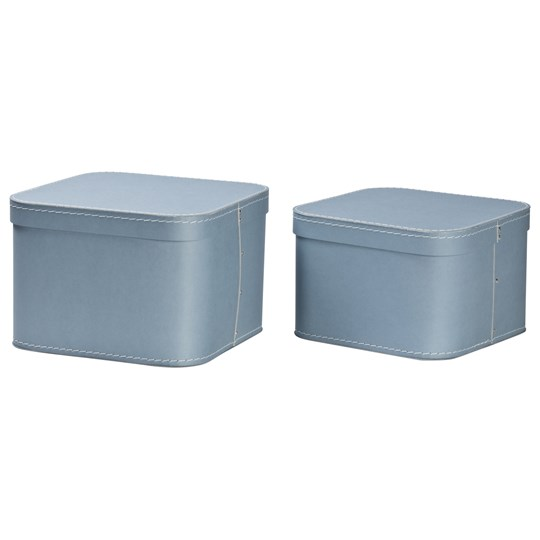bigso box of sweden 2 pack ludvig nesting storage boxes dusty blue. Black Bedroom Furniture Sets. Home Design Ideas