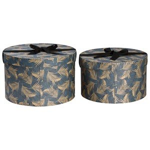Image of Bigso Box of Sweden 2-Pack Hatty Nesting Storage Boxes Leafy (3019786317)
