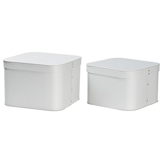bigso box of sweden 2 pack ludvig nesting storage boxes silver grey. Black Bedroom Furniture Sets. Home Design Ideas