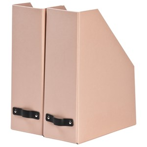 Image of Bigso Box of Sweden 2-Pack William Magazine File Dusty Pink (3020092637)