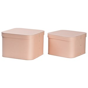 Image of Bigso Box of Sweden 2-Pack Ludvig Nesting Storage Boxes Dusty Pink (3020092633)