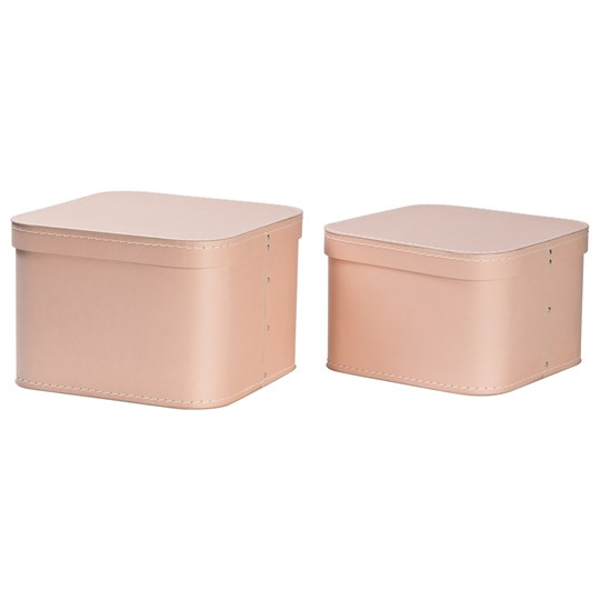 Bigso Box of Sweden 2-Pack Ludvig Nesting Storage Boxes Dusty Pink 521 Dusty Pink