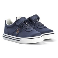 Ralph Lauren Navy Hanford Velcro and Lace Trainers Navy