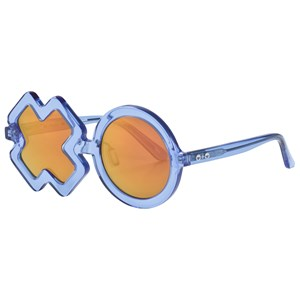 Image of Sons + Daughters Blue Jelly XO Sunglasses (3056071635)