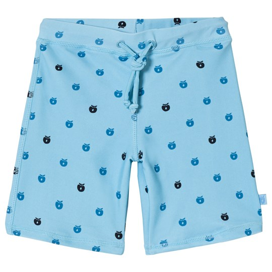Småfolk Blue Apple Print Swim Shorts AIR BLUE