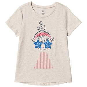 Image of GAP Girl Graphic T-Shirt Beige 3 år (3020092377)
