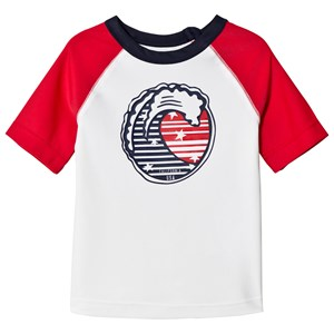 Image of GAP White and Red Graphic Rashguard 18-24 mdr (3020092443)