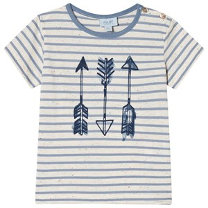 Image of Noa Noa Miniature Arrow Stripe T-Shirt Faded Denim 9M (3020092679)