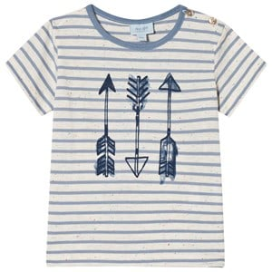 Image of Noa Noa Miniature Arrow Stripe T-Shirt Faded Denim 18M (3020092683)