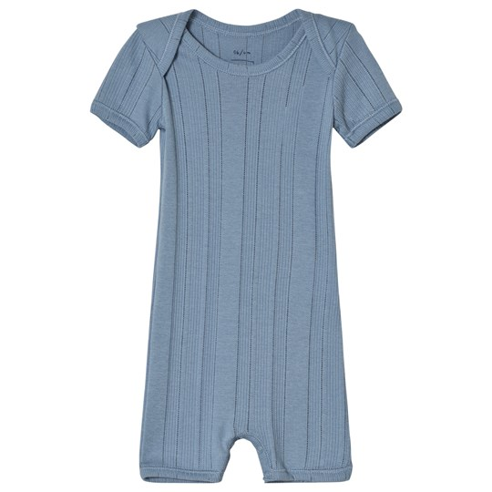 Noa Noa Miniature Jumpsuit Short Sleeve Blue Faded Denim