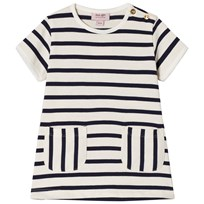 Noa Noa Miniature Sailor-Striped Dress Chalk Chalk