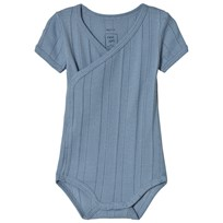 Noa Noa Miniature Faded Denim Short Sleeve Baby Body Faded Denim