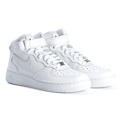 NIKE White Air Force 1 Mid Junior Shoes