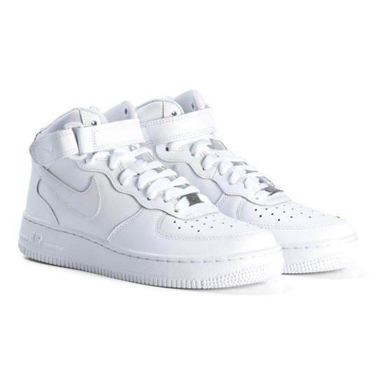NIKE White Air Force 1 Mid Junior Shoes 113