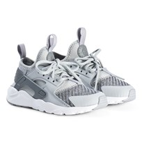 NIKE Wolf Grey Air Huarache Run Ultra SE Kids Shoes 009