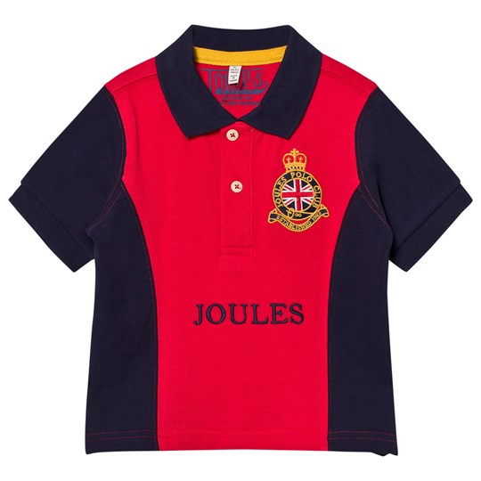 Tom Joule Red and Navy Crest Embroidered Polo Rød