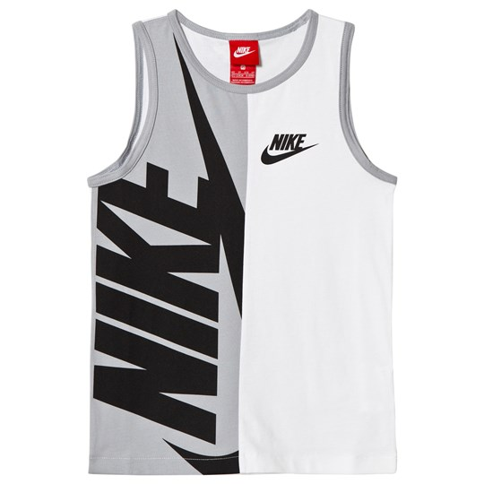 NIKE White and Black Tank Top 100