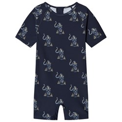 Mini A Ture Goldie Rash Suit Blue Nights
