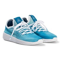 adidas Originals Bright Blue Pharrell Williams Tennis HU Kids Shoes Blue