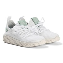 adidas Originals White and Ash Green Pharrell Williams Tennis HU Infants Shoes White