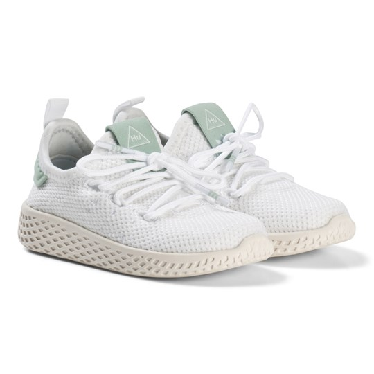 044ac842beab7 adidas Originals White and Ash Green Pharrell Williams Tennis HU Infants  Shoes White