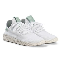 adidas Originals White and Ash Green Pharrell Williams Tennis HU Junior Shoes