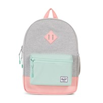 Herschel Heritage Kids Backpack Light Grey Crosshatch/Yucca/Peach Light Grey Crosshatch/Yucca/Pe