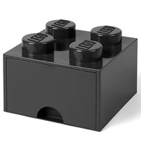 LEGO Inredning Lego Brick Drawer (4 Knobs) Black Black