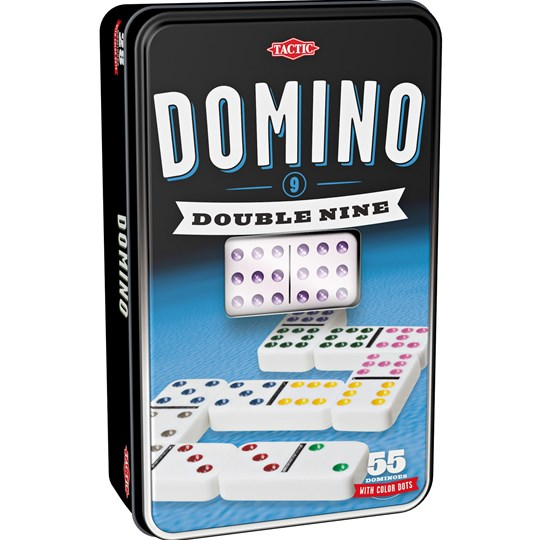 Tactic Domino Double Nine Black