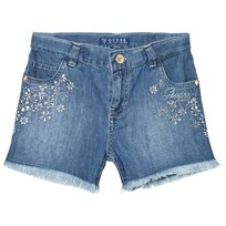 Guess Blue Denim Shorts with Jewelled Detail MEDW