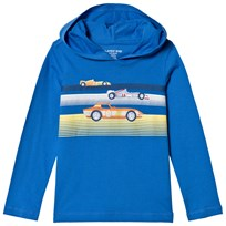 Lands End Blue Racers Graphic Huvtröja 7RS