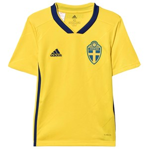 Image of Sweden National Team Sweden 2018 World Cup Home Top Yellow 11-12 Years (3021546877)