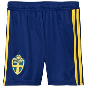 Image of Sweden National Team Sweden 2018 World Cup Home Shorts Blue 13-14 Years (3021546857)