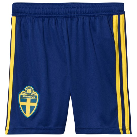 Sweden National Team Sweden 2018 World Cup Home Shorts Blue MYSTERY INK