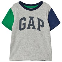 Gap Logo Kontrastärm T-shirt Heather Grey Light Heather Grey B08