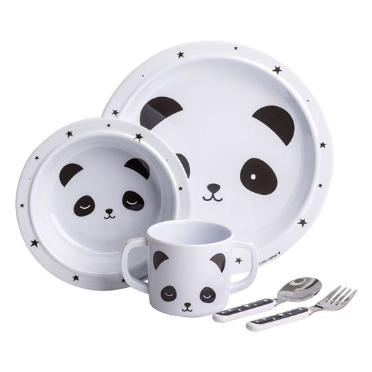 A Little Lovely Company Panda Dinner Set Multi