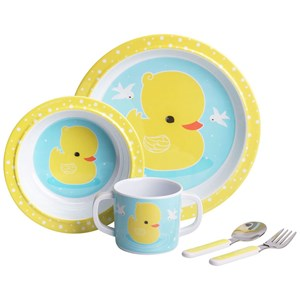 Image of A Little Lovely Company Duck Dinner Set (3021890307)