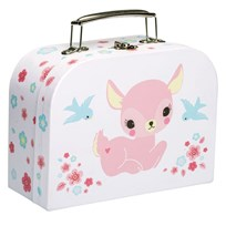 A Little Lovely Company Little Deer Suitcase Multi