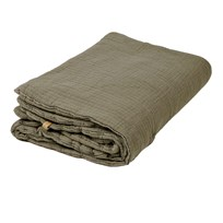garbo&friends Geranium Filled Muslin Blanket Gray/Green