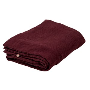 Image of garbo&friends Burgundy Filled Muslin sengetæppe (3022257565)