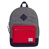 Herschel Heritage Youth Backpack in Raven Crosshatch/Peacoat/Red Raven Crosshatch/Peacoat/Red
