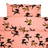 Mini Rodini Horse Baby Bed Set Pink Pink