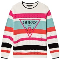 Guess Multi Stripe Logo Jumper S131