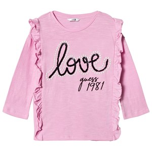 Image of Guess Pink Frill Front Love Guess Tee 7 years (3022492913)
