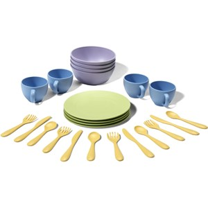 Image of Green Toys 24-Piece Dish Set 24 months - 8 years (3148271433)