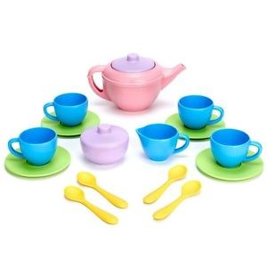Image of Green Toys 17-Piece Tea Set 24 months - 8 years (3148271441)