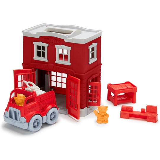 Green Toys Fire Station Playset Multi