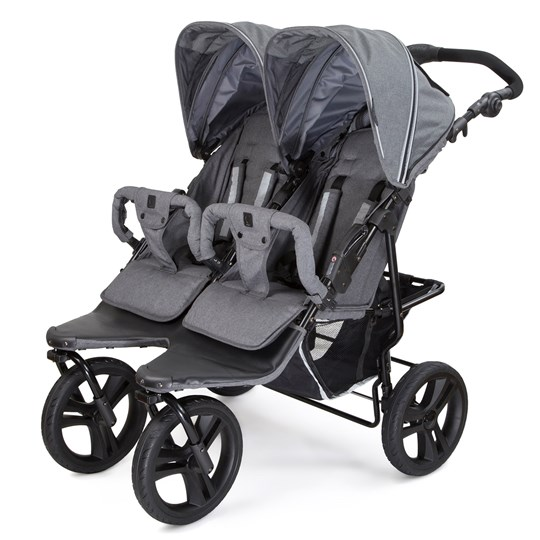 Carena Gotland Double Stroller Grey Melange with Black Chassi Black