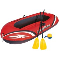 Bestway Boat with Oars and Pump Red