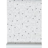 Done by Deer Contour Wallpaper Black Black